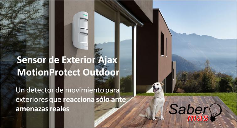 Conozca el nuevo Sensor de Exterior Ajax MotionProtect Outdoor